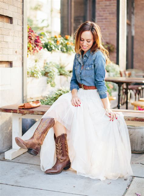 White Demin Wedding Dresses by Sydne Style What To Wear To A Western Wedding Tulle Skirt