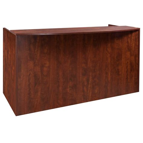 Cherry Reception Desk Everyday Laminate Reception Desk Cherry National Office Interiors And Liquidators