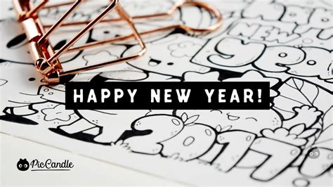 doodle happy new year happy new year 2017 doodle by piccandle