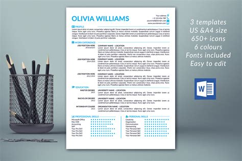 resume cover letter word template creative modern resume template in word creative resume