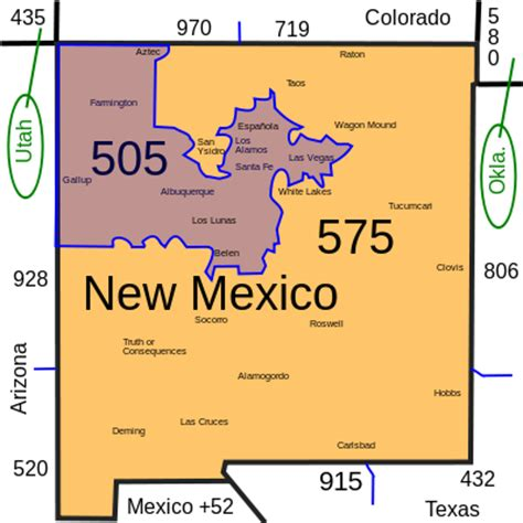 us area code from mexico file area codes nm svg wikimedia commons