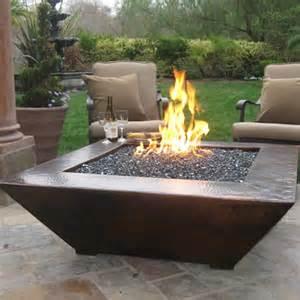 Outdoor Gas Pit Bowls 50 Quot Amiata Manual Ignition Pit Copper