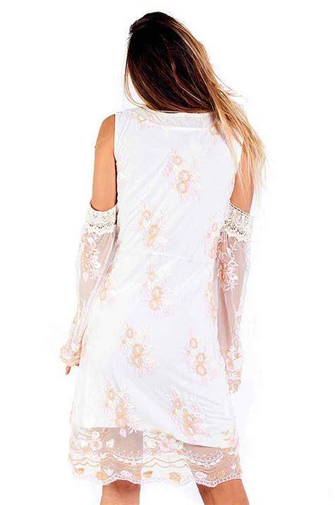 Dress Toscana savage culture dress toscana 34040 white mesh summer 2018