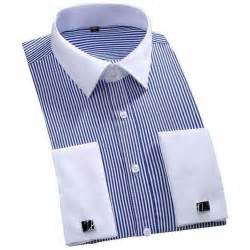 camisa striped 2016 mens luxury french cuff solid color
