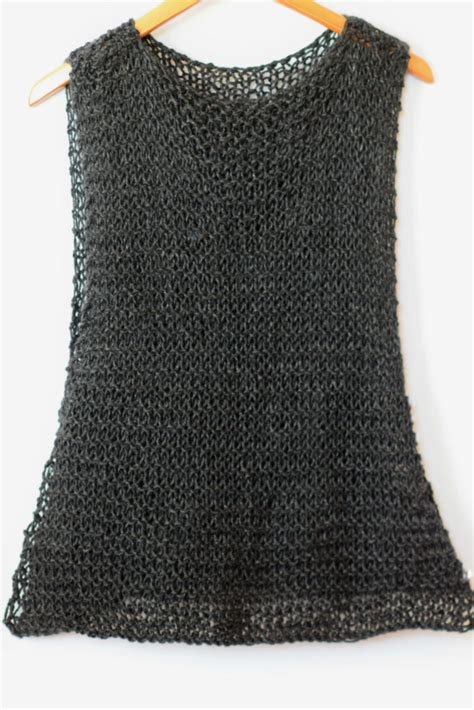 knit tank top pattern easy quot black quot tank top knitting pattern in a