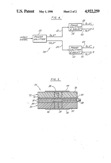 sketch radiation pattern patent us4922259 microstrip patch antenna with omni