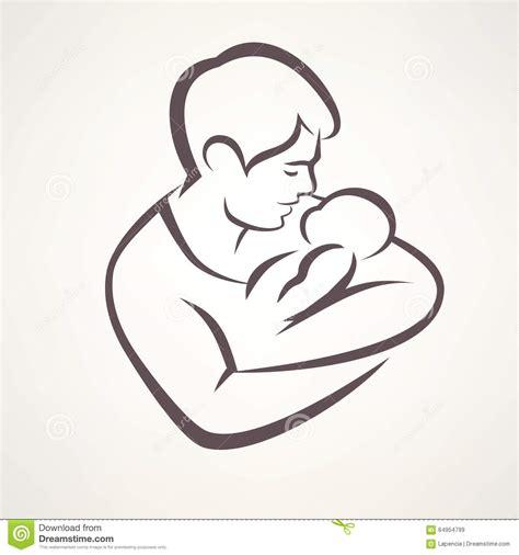 clipart bambino padre e bambino illustrazione vettoriale illustrazione di