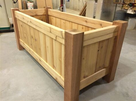 Made Planters by Crafted Cedar Planters By Tradecraft Custom