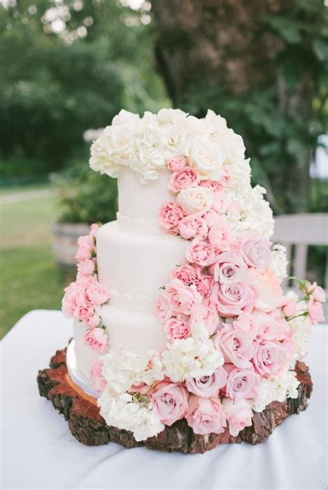 wedding cake of the day pink ombr flower wedding cake show us your wedding day pictures white ombre wedding