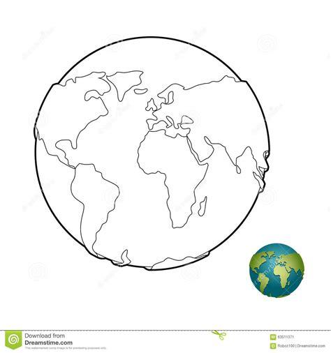 Libro De Colorear De La Tierra Cuerpo Ino Planeta Con