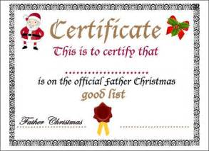 Santa Gift Certificate Template by Search Results For Santa Gift Certificate Template