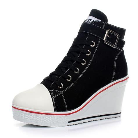 2016 new plus size 35 41 korean wedges platform shoes