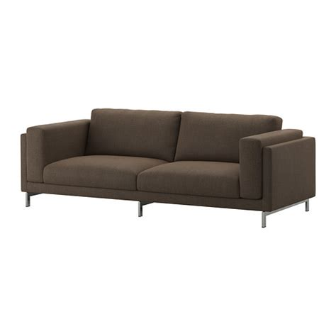 nockeby sofa nockeby sofa ten 246 brown chrome plated ikea