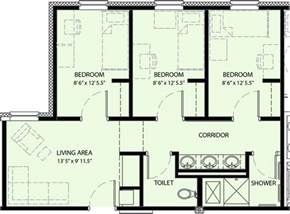 Floor Plan 3 Bedroom Pricing And Floor Plan University Commons University