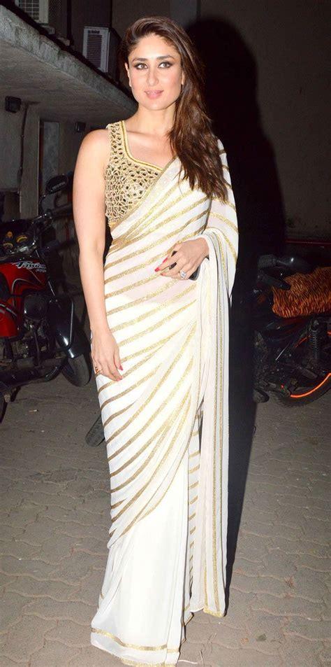 Kareena In High Neck Blouse by Kareena Kapoor Snapped At Mehboob Studio Blouses