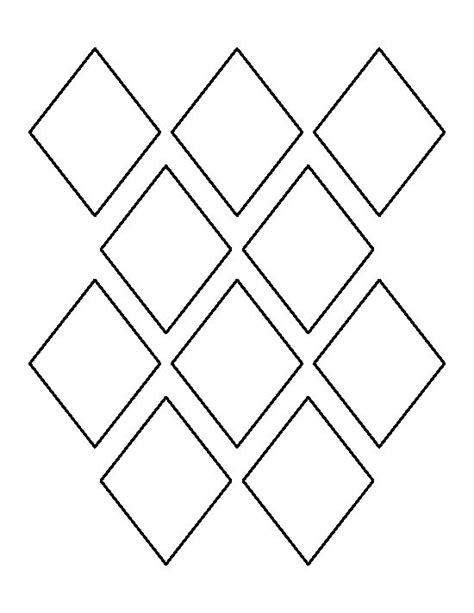 Pattern Outline | 3 inch diamond pattern use the printable outline for