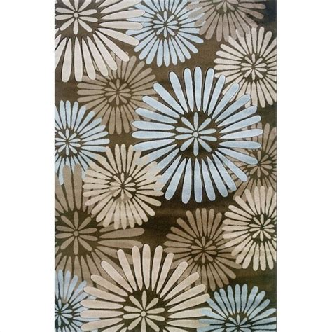 Rugs Rectangular Area Rug In Brown And Blue Rug Mn10xx Area Rugs Blue And Brown