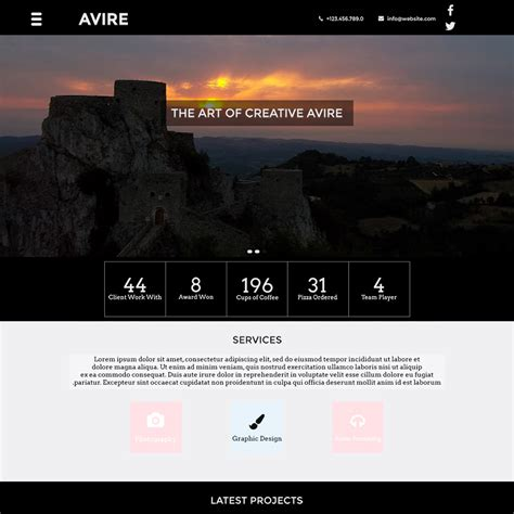 The 15 Best Free Corporate Web Templates In Psd Free Easy Website Templates