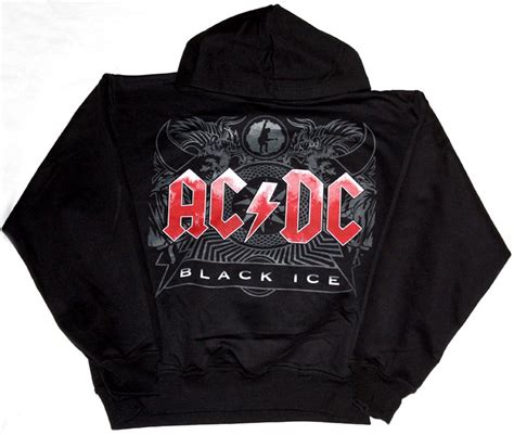 Sweater Ac Dc ac dc back in black sweatshirt cardigan with buttons