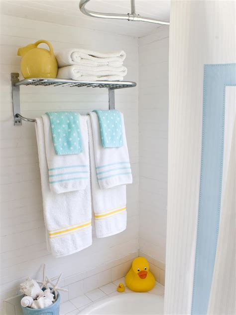 Towel Designs For The Bathroom Embellished Bath Towels Hgtv