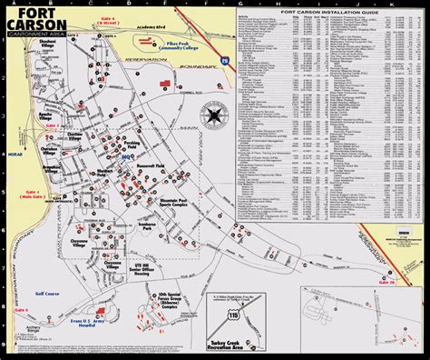 fort carson training area map ex stars and stripes march 2003