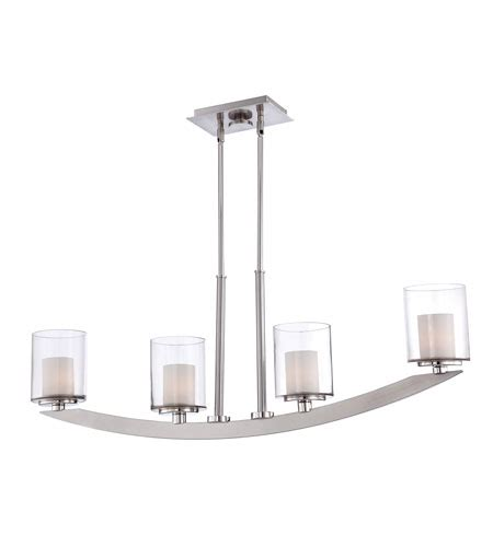 Quoizel Island Light Quoizel Lighting Uptown Liberty 4 Light Island Light In Brushed Nickel Uplb440bn