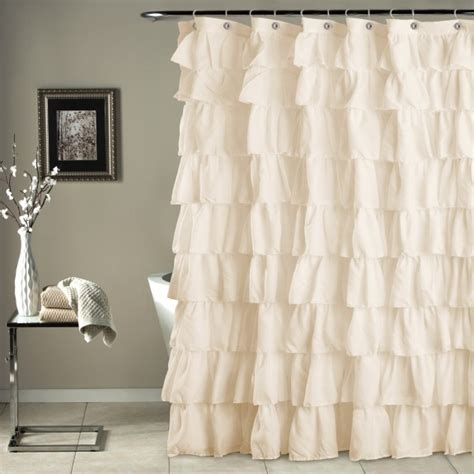 ivory shower curtains ruffle shower curtain ivory gifts for you and me