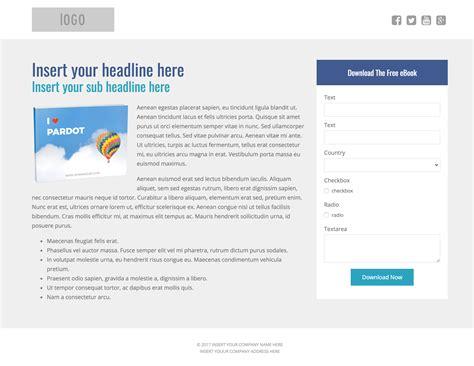 Pardot Landing Page Templates 3 Free Pardot Landing Page Templates For Asset Downloads