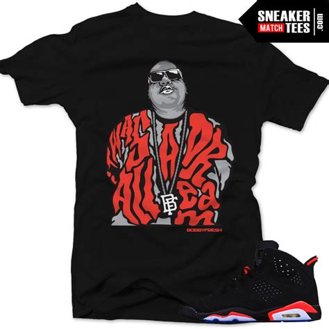Kaos Tshirt Big Size Nike 2xl 3xl 4xl 1 infrared 6s black sneaker tees it was all a sneaker black