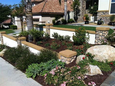 terraced front yard landscaping terraced walls in front yard with custom caps and