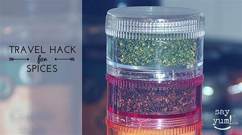 Travel Spice Rack by Save Luggage Space Money Travel Spice Rack Say Yum