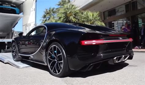 bugatti chiron dealership black bugatti chiron cold start up and unloading