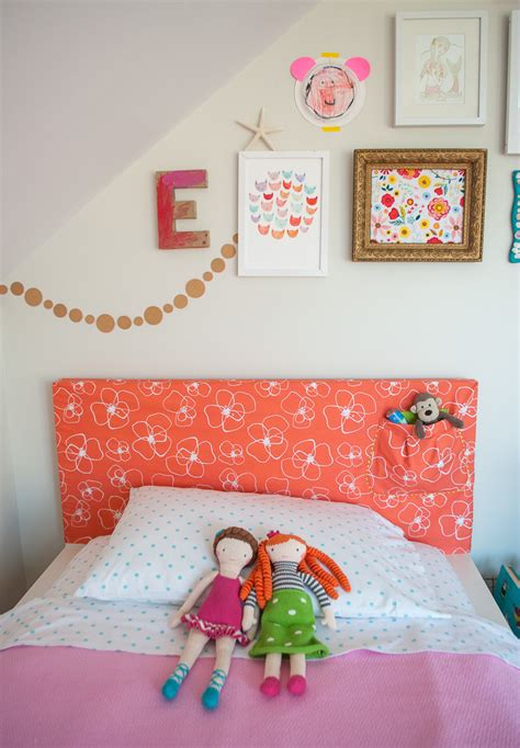 how to make a headboard slipcover with storage pocket