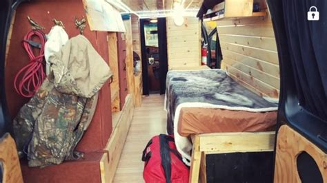 ford econoline  super duty cargo van conversion camper
