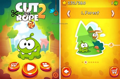 cutting rope games cut the rope 2 for ios game review