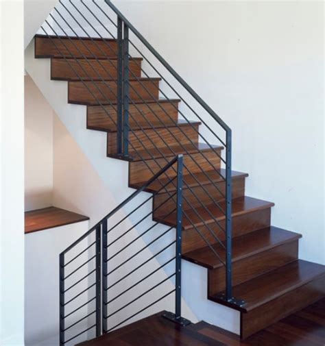 steel banister modern handrail designs that make the staircase stand out