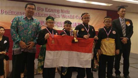Medali Sekolah Ormas Perusahaan Lomba pelajar sd indonesia raih perunggu lomba matematika