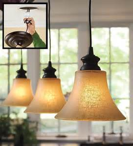 Pendant Light Shades For Kitchen Linen Glass Shade L Kitchen Lighting Plow Hearth