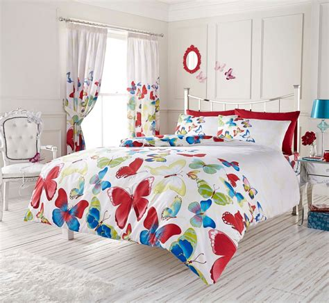 childrens butterfly bedding and curtains fashion butterfly modern printed duvet set rainbow