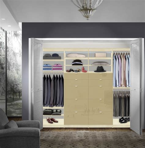 Built In Drawers For Closet by Isa Built In Closet System Xl Plenty Of Closet Drawers For Storage Contempo Space
