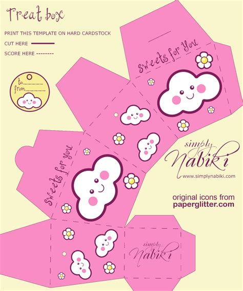 printable purse template cute paper gift box with free