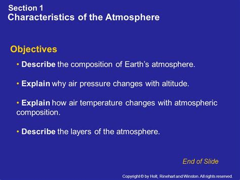 characteristics of sectionalism section 1 characteristics of the atmosphere ppt download