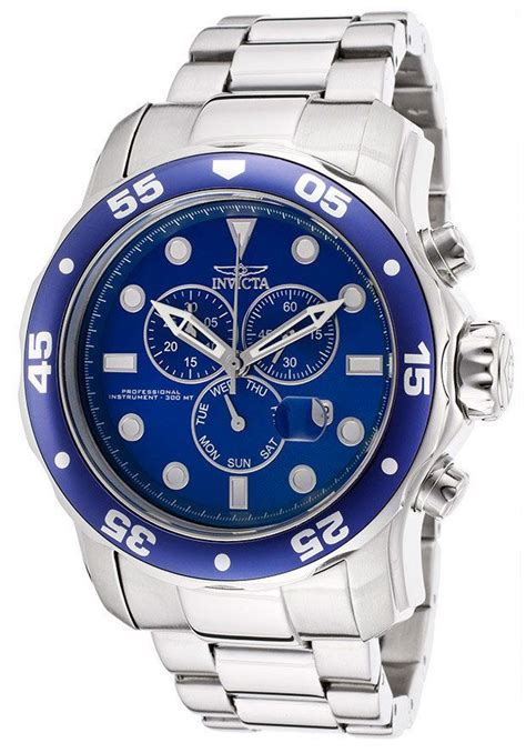 Invicta Bold the stainless steel makes the bright blue in this invicta a really bold choice watchlist