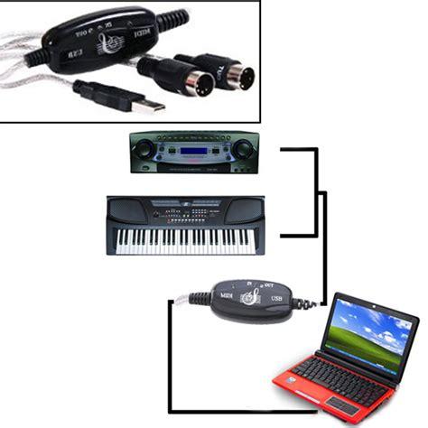 porta tastiera musicale midi usb cavo di convertitore adattatore pc a tastiera