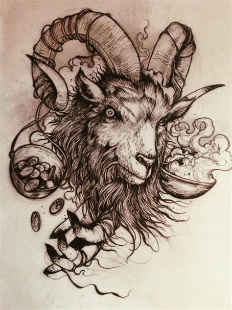 goat tattoos designs 58 best goat tattoos design and ideas
