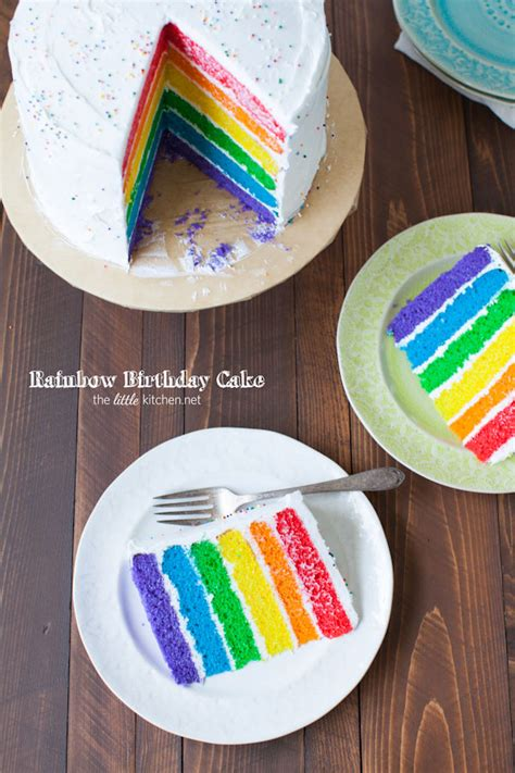 Dark Kitchen Ideas by Rainbow Birthday Cake The Little Kitchen