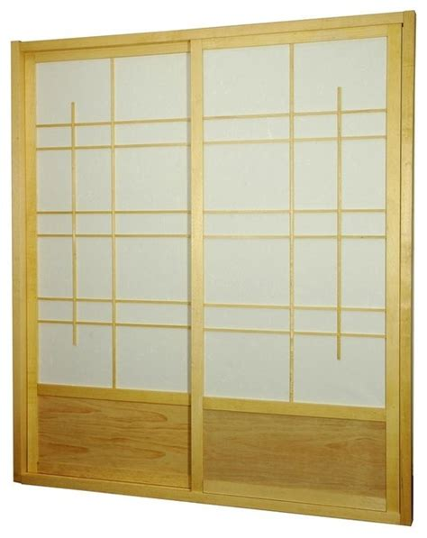7 Foot Interior Doors Eudes 7ft Shoji Sliding Door Kit In Nat Asian Interior Doors By Ivgstores