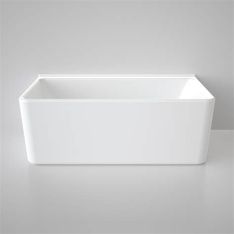 caroma bathtubs caroma freestanding cube bath 1600mm back to wall white