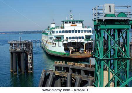 ferry boat docking ferry at friday harbor stock photo royalty free image