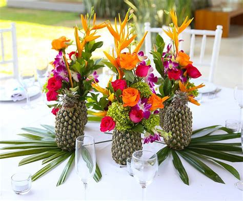 tropical themed wedding decorations 25 trending tropical flower arrangements ideas on